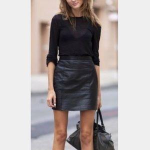 Faux leather mini skirt NWOT